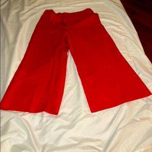 RED LOFT PANTS ( WIDE BOTTOM)
